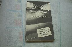 1946-52 Buick Car Care Booklet New