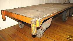 Wood And Iron Railroad Cart With Handle 3425