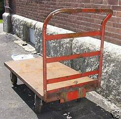 Vintage Iron Railroad Cart With Heavy Duty Handle