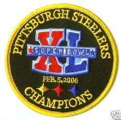 Super Bowl Xl 40 Pittsburgh Steelers Champions Iron On Patch