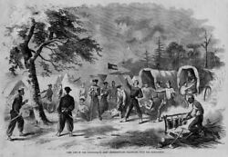 Civil War Confederate Army Camp Life Negro Cook Wagons Bowie-knife Playing Cards