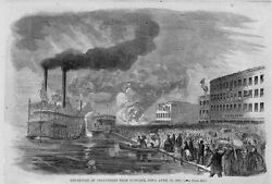 Dubuque Iowa Departure Of Civil War Volunteers From Dubuque History Steamboats