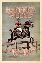 Horse Show Number Harperand039s Color Cover Page 1894 Rare