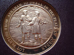 Thomason Medallic Bible 9 Lot Parting From Abraham. Franklin Mint Bronze Medal