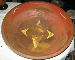 Antique Primitive Texas Star Boy Toy Sleigh Flying Saucer Country Bowl Ski Sled