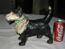 ANTIQUE CAST IRON LITTCO CO. SCOTTISH TERRIER DOG DOORSTOP HUBLEY TOY HOME ART