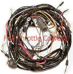 1971 Corvette Wiring Harness Rear Lamp Body With Alarm Us Reproduction C3 New