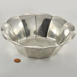Deco Period 1930s And Co. Sterling Fruit Bowl 12- Sided