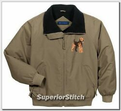 WELSH TERRIER embroidered challenger jacket ANY COLOR
