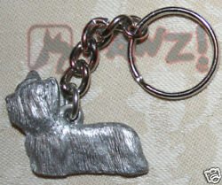 SKYE TERRIER Dog Fine Pewter Keychain Key Chain Ring