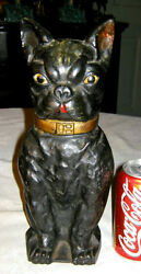 ANTIQUE ARCADE FOUNDRY MFG. BOSTON TERRIER DOG DOORSTOP CAST IRON ARCADE STATUE