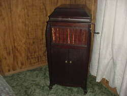 Antique Sears Silvertone Wind Up Phonograph 78 Rpm 150 Records Country And Rock