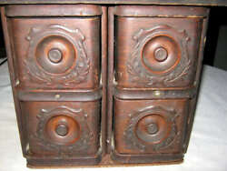 Antique Mission Oak Wood Kitchen File Spice Draw Art Cabinet Sewing Stand Table