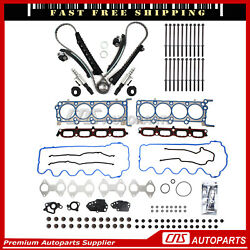 Head Gasket Bolt Timing Chain Solenoid Valve For 05-06 F150 F250 Lincoln 5.4l