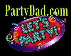 Party Dad .com  Fun Kids Toys Costumes Events Holidays Birthday Domain Name URL