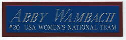 Abby Wambach Team Usa Soccer Nameplate Autographed Signed Ball Photo Jersey Fifa