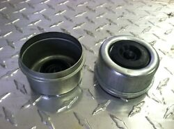 2 Metal Grease Caps With Rubber Plugs For Dexter And Quality Axles 1.98 Diam