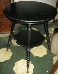 Usa Victorian Antique Eagle Ball N Claw Cast Iron Glass Feet Wood Table Stand