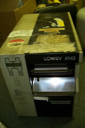 Lowry 4143 Zebra Z143l Label Thermal Printer Used Working Or For Parts