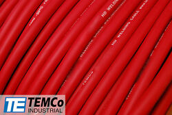 Welding Cable 1 Awg Red 1000' Ft Battery Leads Usa New Gauge Copper Solar