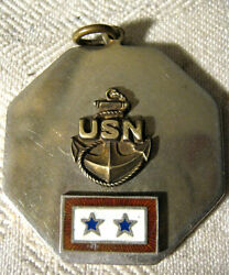 United States Navy Anchor Star Gold Silver Wwii Ship Rope Man Medal War Pin Usa