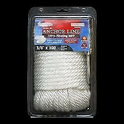 Dockmate 53328 Anchor Line 3/8 Inch X 100and039 Foot White Marine Boat