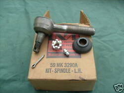 1958-59 Ford Lincoln Mercury Lh Spindle Kit Tie Rod Mk3290a Nos Oem Read Ad.