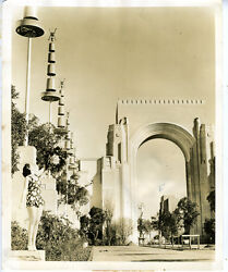 Large 1939 Ggie Worlds Fair Photo Of The Triumphal Arch Sf Ca 5