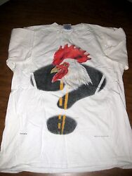 BUDWEISER CHICKEN large T shirt beer lager Anheuser Busch commercial or Egg 1997