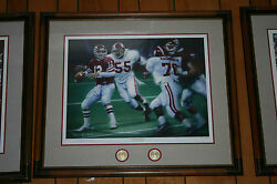 Alabama Football Framed Third And Long Signed Artist Proof By Daniel Moore
