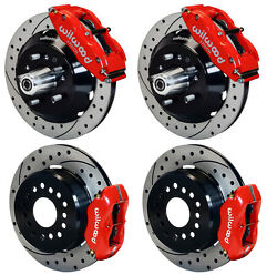 Wilwood Disc Brake Kit65-69 Fordmercury13/12 Drilled Rotorsred Calipers