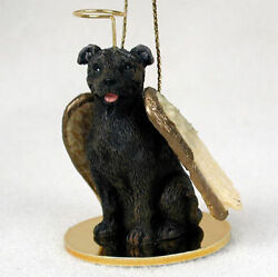 Staffordshire Bull Terrier Ornament Angel Figurine Hand Painted