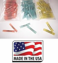 300 12-10 16-14 22-18 3m Heat Shrink Butt Wire Crimp Connector Electrical Usa