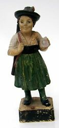 Late 19th Early 20thc Chalkware Figure Lady Target Shooter Annie