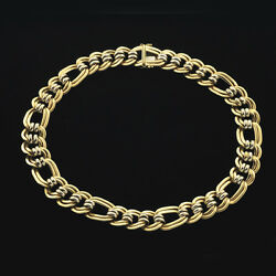 14k Classic Weighty Double Locked Curb Oval Link Necklace / Chain 18 1/4 Long