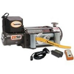 New Keeper Kw13122 12 Volt Electric 13,500 Lb Winch With Remote 92 Ft X 3/8