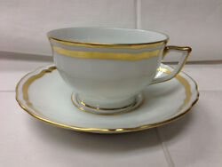 Raynaud Marie Antoinette Gold Teacup And Saucer New Porcelain Limoges France