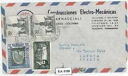 Postal History Colombia - Airmail Cover To Italy 1958