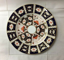 Royal Crown Derby Traditional Imari Dinner Plate 10 1/2 England