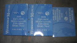 2010 FORD Explorer Mountaineer & Sport Trac Service Shop Manual Set W EWD & PCED