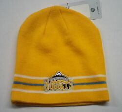 Denver Nuggets Knit Beanie Toque Skull Cap Winter Hat New Nba - Yellow Striped