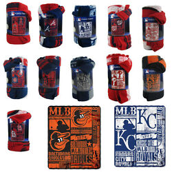 Brand New MLB Teams New Designs Large Soft Fleece Throw Blanket 50quot; X 60quot;