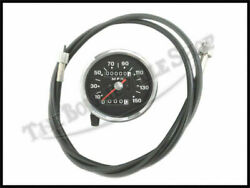 Triumph Black Face 150 M.p.h. Speedometer W / 5and0396 Cable Pn Tbs-4192a 60-0609