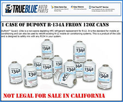 ONE CASE OF DuPont R-134AR134a REFRIGERANTFREON (12) TWELVE 12oz CANS PER CASE