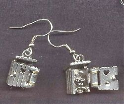Funny Outhouse Earrings-camping Country Bathroom Charm Costume Jewelry-opens