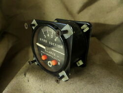 Piper Pa-23-250 Aztec Aircraft Aviation Airborne 1g2-1 Suction Gauge Indicator
