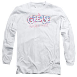 Grease Movie Grease Is The Word Adult Long Sleeve T-shirt Tee