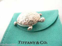 Tiffany & Co Silver Nature Turtle Pet Pill Box Case Container VERY Rare Vintage