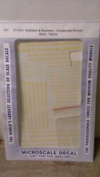 Cut Micro Scale Decals Ho 87-94-6 Alphabet And Numbers Condensed Roman Yellow