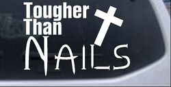 Tougher Than Nails Christian Jesus Car Truck Window Laptop Decal Sticker